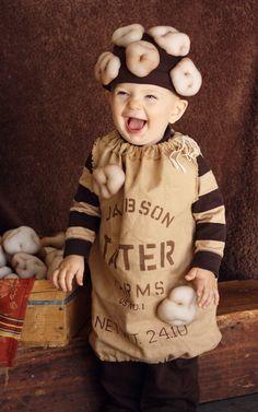 Kids Halloween Costume Sack of Taters  - size Medium. $60.00, via Etsy.