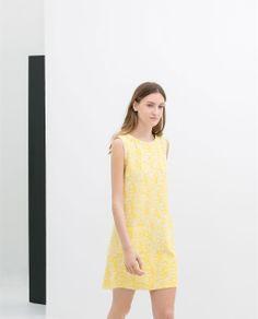 Image 1 of SLEEVELESS PRINTED DRESS from Zara
