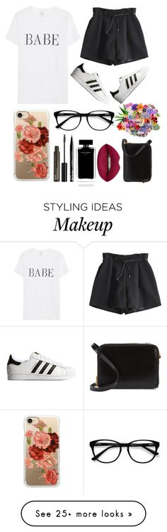 """""""Simple style"""" by lgbarrier on Polyvore featuring adidas Originals, Casetify, EyeBuyDirect.com, NYX, Narciso Rodriguez, Huda Beauty and Sophie Hulme"""
