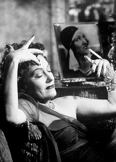 """Shut up, I'm rich! I'm richer than all this new Hollywood trash!"" Sunset Boulevard (1950) dir. Billy Wilder"