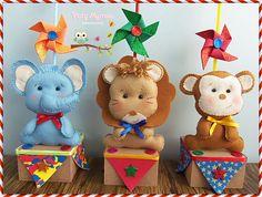 Circus Birthday, Circus Party, 2nd Birthday, Paper Craft Work, Paper Crafts, Sugar Craft, Ideas Para Fiestas, Safari, Party Themes