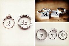 Ideas para las fotos de los anillos de boda #Bodas #ElBlogdeMaríaJosé #AnillosCasados #AnillosMatrimonio #FotosBoda #FotografíaBoda