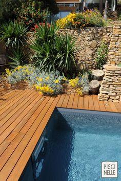 Une piscine rectangulaire équipée d'un MF5 en inox.
