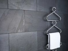 Sleek towel warmer/bathroom heater - because nothing beats warm towels on a cold day.