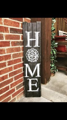 Use a baseball for the 'O'You can find Firefighter decor and more on our website.Use a baseball for the 'O' Firefighter Home Decor, Firefighter Family, Firefighters Wife, Firemen, Volunteer Firefighter, Firefighter Quotes, Home Crafts, Diy Home Decor, Porch Signs