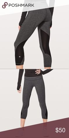 LULU Inspire Crop || Luxtreme leggings New cropped leggings, breathable & stretchy material great for workouts and running. lululemon athletica Pants Leggings