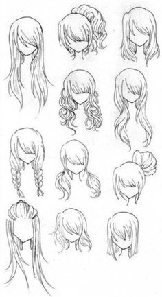 Draw an AWESOME face with no hare because you're afraid to wreck it? SOLUTION!!!! Trace your drawing over in permanent marker then draw some hair on so you don't wreck the face while erasing!!! Here's some hair style ideas above!!!