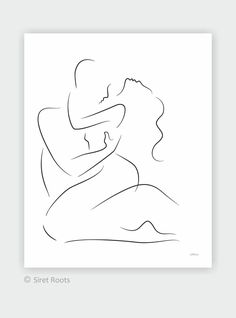 Large wall art for bedroom. - New Ideas Sexy Drawings, Couple Drawings, Art Drawings Sketches, Romantic Artwork, Outline Art, Abstract Line Art, Bedroom Art, Minimalist Art, Large Wall Art