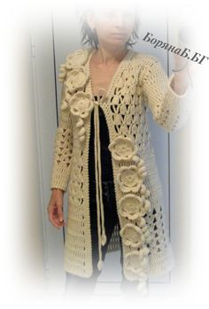 WOMEN vests, wool vests, CARDIGAN FLOWERS