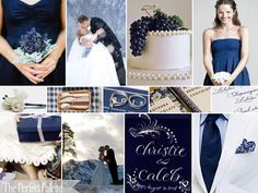 navy blue & snow white wedding  http://www.theperfectpalette.com/2010/09/winter-whimsy-navy-blue-snow-white.html