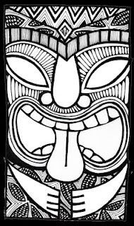 little tutorial on how to draw a tiki style head