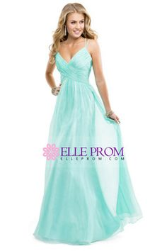 Prom Dresses 2014 Prom Dress Spaghetti Straps Chiffon A Line Ruffled Bodice With Criss Crossed Back Mint , You will find many long prom dresses and gowns from the top formal dress designers and all the dresses are custom made with high quality Mint Prom Dresses, Prom Dresses 2015, Bridal Dresses, Evening Dresses, Bridesmaid Dresses, Dress Prom, Dress Long, Black Friday Dresses, Designer Formal Dresses