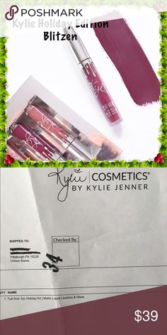 Kylie Holiday Limited Edition Blitzen New Never used Sold out Limited Edition Holiday Edition  100% AUTHENTIC - ✨most are Not! See Proof✨Includes one liquid matte lipstick Kylie Cosmetics Makeup Lipstick