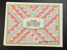 handmade card from Vandra's Virtual CTMH Craftroom by Alicia Lawrence ... quilt pattern background ...