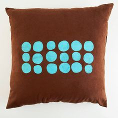 Screen-Print Pillow  cheaper to buy a plain pillow then decorate with the colors you want!! Just saying!