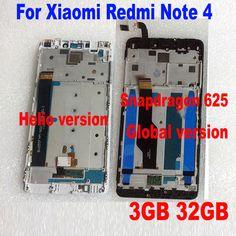 Новый МТК helio X20 версия/Глобальный Версия 32 ГБ/64 ГБ ЖК дисплей Дисплей Сенсорный экран планшета Ассамблеи + рамка для Xiaomi Redmi Note 4 купить на AliExpress