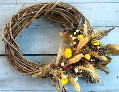 Dutch Harvest oval grapevine wreath by twigstwineandthyme on Etsy