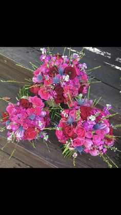 #bouquets #wedding #roses #blue #pink #red #bright
