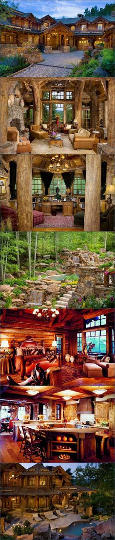 Cabins And Cottages: Strawberry Park Lodge - Beaver Creek, Colorado - Style Estate - especially love that pool! Beaver Creek Colorado, Park Lodge, Log Cabin Homes, Log Cabins, Cabins And Cottages, Cabins In The Woods, Logs, My Dream Home, Future House
