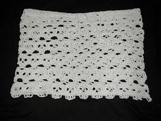 Creepy skull mini skirt. Make it in any yarn you choose. Instructions include how to calculate how many stitches you need to make it in any ...