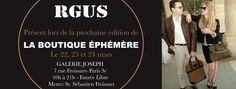 RGUS, présent dans la prochaine édition de La Boutique Éphémère Paris 3e.