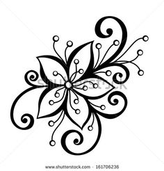 Embroidery Designs For Big Shot Flower Dies White Flower Tattoos, Black White Tattoos, Flower Pattern Design, Flower Patterns, Flower Tattoo Designs, Henna Designs, Embroidery Designs, Hand Embroidery, Embroidery Stitches