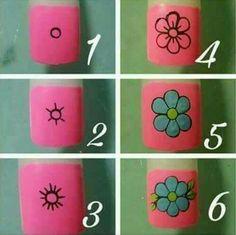 Uñas Ladybug Nail Art, Butterfly Nail Art, Rose Nail Art, Rose Nails, Flower Nail Art, Nail Art Diy, Gold Gel Nails, Fingernails Painted, Best Acrylic Nails