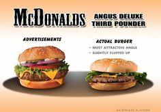 Advertisement vs real life