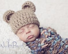 crochet patterns teddy bear bulky yarn | Crochet Bear Hat Pattern | Teddy Bear Beanie | Sizes Newborn to Adult ...