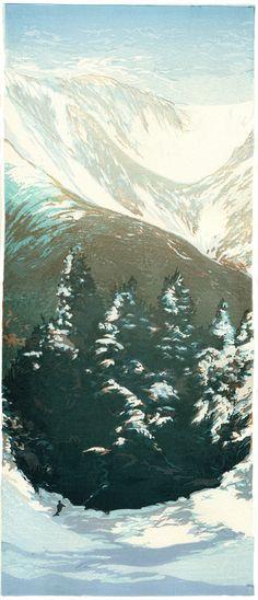 Tuckerman's from Wildcat Mountain ~ Woodblock ~ Matt Brown