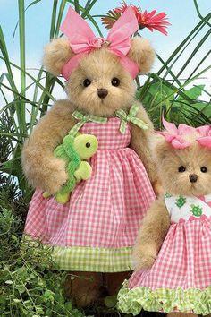 "Bearington Bears ""Nellie & Shellie"" 14"" Collectible Bear- Sku#143191 - New- 2009"