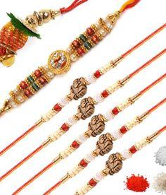 Sovam International Designer Rakhi Pack Of 7 Rakhi Design, Mehndi, Beaded Bracelets, Beads, Beautiful, Jewelry, Fashion, O Beads, Jewellery Making