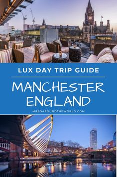 How to spend a day in Manchester, England. Make the most of a luxe day trip in this UK hidden gem by exploring the food scene, doing some local shopping and taking in the stunning skyline. The ultimate travel guide to things to do, top restaurants, and best luxury hotels for an overnight layover. Luxury travel in the UK. | Mrs O Around the World #Travel #TravelTips #TravelGuide #Wanderlust #BucketList #LuxuryTravel #Manchester #England #UK Travel Ideas, Travel Guide, Travel Inspiration, Luxury Hotels, Luxury Travel, Travel Around The World, Around The Worlds, Manchester England, Traveling Europe