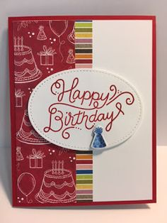My Creative Corner!: Birthday Delivery, Birthday Memories, Birthday Card, Stampin' Up!, Rubber Stamping, Handmade Cards