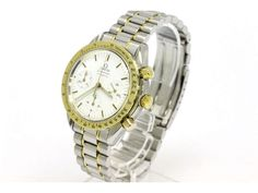 Polished OMEGA Speedmaster Automatic 18K Gold Steel Watch 175.0032 (BF066901)