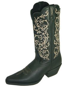 Women's Western NS Toe - Black$145.95
