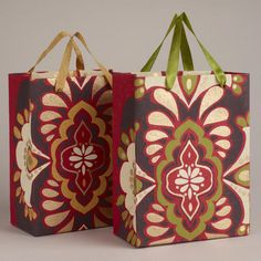 One of my favorite discoveries at WorldMarket.com: Small Spice Medallion Bags, Set of 2