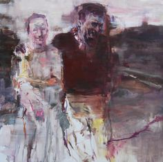 http://www.boumbang.com/edwige-fouvry/ Edwige Fouvry, Le couple, huile sur toile, 150x150 cm, 2012 ©