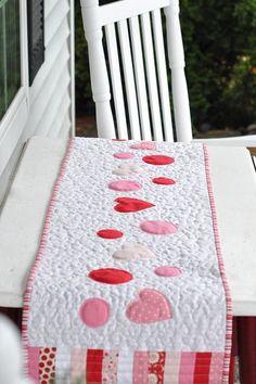 Valentines table runner