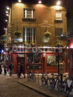 The Temple Bar Pub, Temple Bar, Dublin, County Dublin, Republic of Ireland (Eire) Landscapes Photographic Print - 46 x 61 cm
