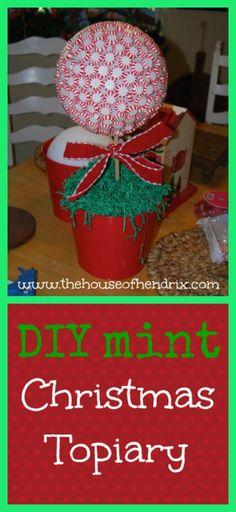 DIY Christmas Mint Topiary