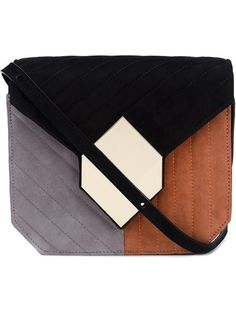 Shop Pierre Hardy 'Prism' quilted shoulder bag in Pierre Hardy from the world's…