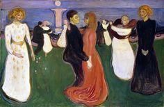 Una vita su cui la morte aleggia. Quella di Munch è una vita senza pace ed armonia e per questo i suoi quadri non arrivano mai a trasmettere un senso di pace.