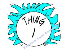 Thing 1 OR Thing 2 by EmersonLaneOriginals on Etsy, $7.00