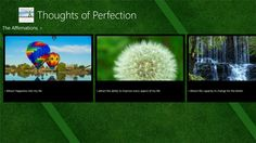 Thoughts of Perfection.  Windows app