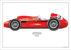 La Ferrari de Mike Hawthorn Champion du Monde 1958 - source Carros e Pilotos. Ferrari F1, Ferrari Racing, Grand Prix, Formula One, Maserati, Race Cars, Porsche, Classic Cars, Vehicles