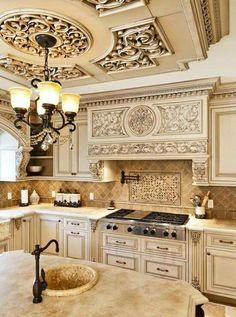 Tuscan Kitchen Design On A Budget. Tuscan Kitchen Design On A Budget. Tuscan Kitchen Design On A Bud Tuscandesign Tuscan Kitchen Design, Luxury Kitchen Design, Tuscan Design, Best Kitchen Designs, Kitchen Rustic, Tuscany Kitchen, Elegant Kitchens, Luxury Kitchens, Beautiful Kitchens