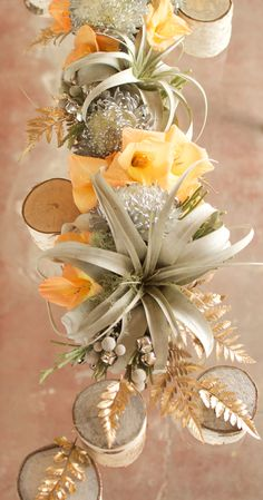 Indian summer inspired floral arrangement // by Meg Biram Floral Centerpieces, Wedding Centerpieces, Wedding Bouquets, Centerpiece Ideas, Lounges, Table Arrangements, Floral Arrangements, Wedding Arrangements, Indian Summer