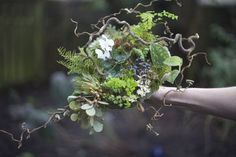 woodland bridal bouquet by Janet
