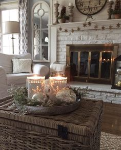 the tree is packed away and i cant believe how big our small living room feels without it what is up still are twinkle lights - Cottage Style Living Room Pinterest
